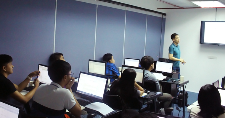 Students listened to Lorenzo Dee that discussed about the Agile Testing & Test Automation. | Java Testing Training Philippines
