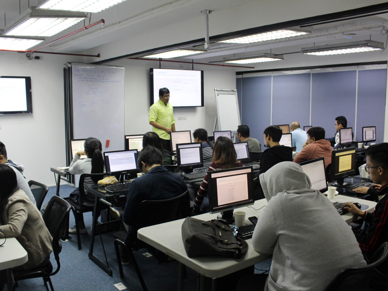 Python for Beginners lecture before hands-on programming. |  Java and Agile Scrum Training Philippines.